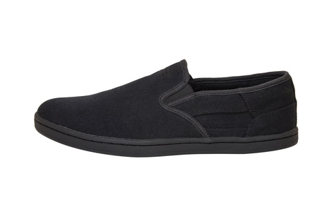 ALL BLACK SLIP ONS