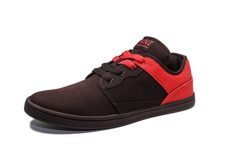 BLACK/RED LOW TOPS