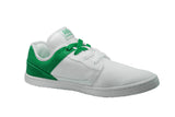 WHITE/GREEN LOW TOPS