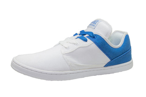 WHITE/BLUE LOW TOPS
