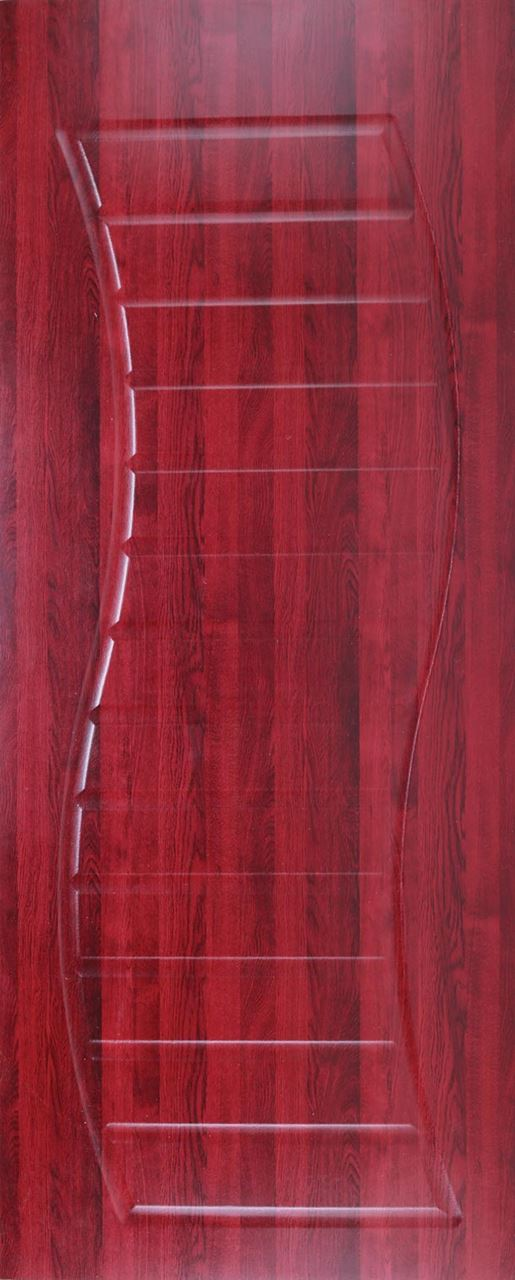 Dual Curves Shallow Moulded Door - Mahogany