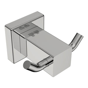 8511 Double Robe  Hook - Polished - Stainless Steel - Bathroom Butler