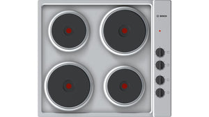 Bosch 60cm Electric Hob - Stainless Steel - Serie 2 - PEE689CA1