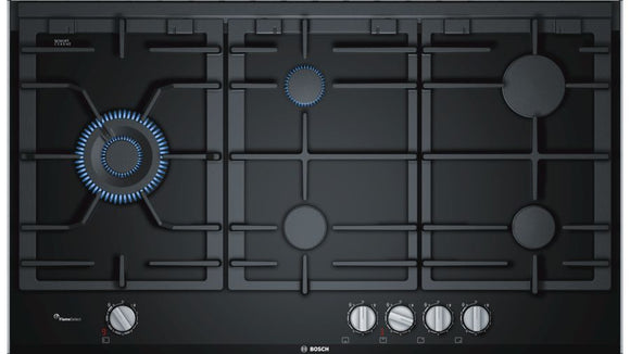 Bosch 90cm 5 Burner Gas Hob - Ceramic Glass - Serie 8 - PRS9A6D70