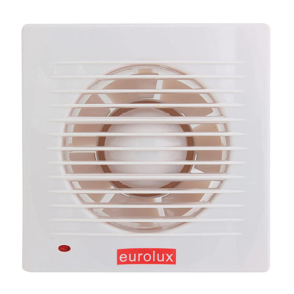 EUROLUX F44 - 5inch Wall Extractor Fan - White - Cut-Off 145mm