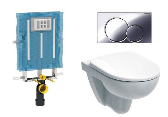 Geberit Abalona Round Wall Hung Toilet - Concealed Cistern