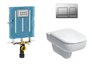 Geberit Smyle Round Wall Hung Toilet - Concealed Cistern