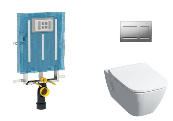 Geberit Smyle Square Wall Hung Toilet - Concealed Cistern