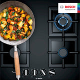 BOSCH 60cm 4 Burner Gas Hob - Ceramic Glass - Serie 6 - PPP6A6B20