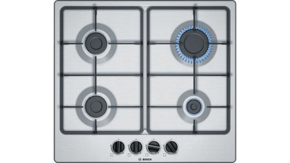Bosch 60cm 4 Burner Gas Hob - Stainless Steel - Serie 4 - PGP6B5B60Z