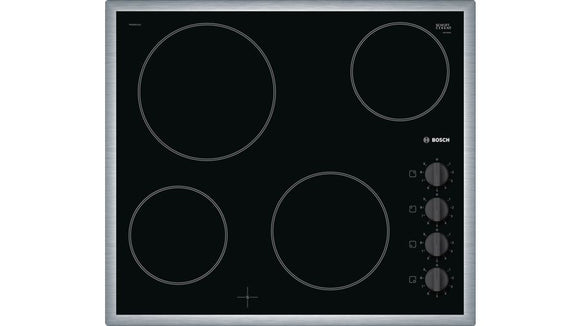 Bosch Ceramic Hob 60 cm - Black -With Controls- Serie 2 - PKE645CA1E