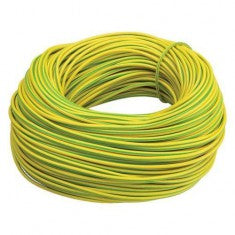Single Core House Wire - Yellow/Green (Earth) - 6mm²