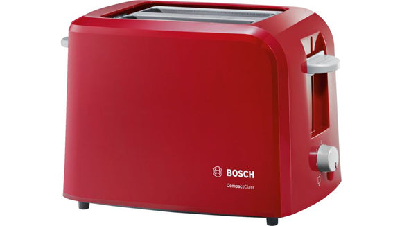 BOSCH 2 Slice Compact Toaster - Compact Class - Red - TAT3A014