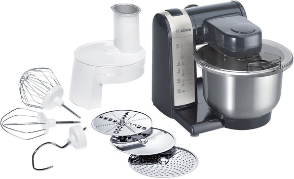 Shop Online @ www.artisanstradedepot.com  for BOSCH Food Processor / Kitchen Machine MUM3 - 600W - Black / Silver - MUM48A1