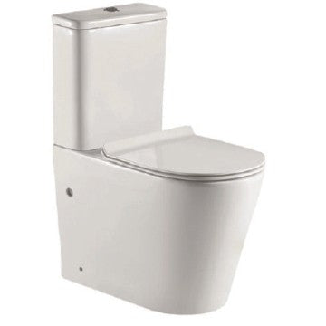 VAAL Entice Rimless Close-Couple Toilet Suite - Top Flush