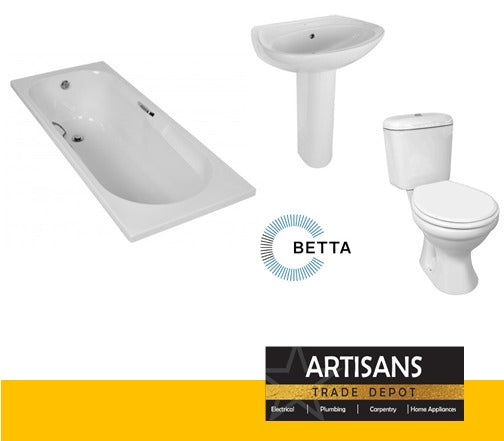 Standard Bathroom Set (Toilet, Bathtub & Basin with Pedestal)