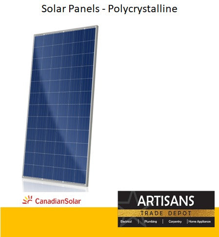 330W Solar Panels - Polycrystalline - Super High Efficiency Poly PERC Module - Canadian Solar