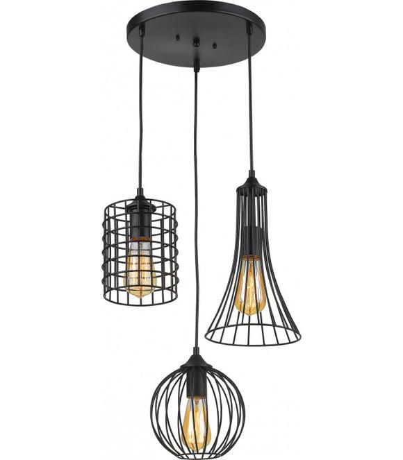 Radiant JC157-BL - Pendant Light - 230V E27 3X14W 3-Lights