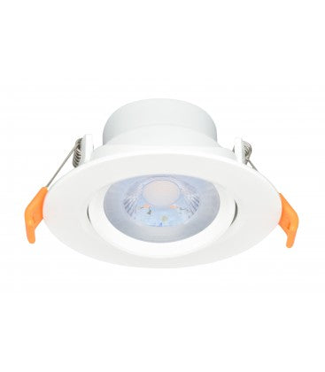 RADIANT LDL0001W - LED Tiltable Downlight 6W Cool White 4000K