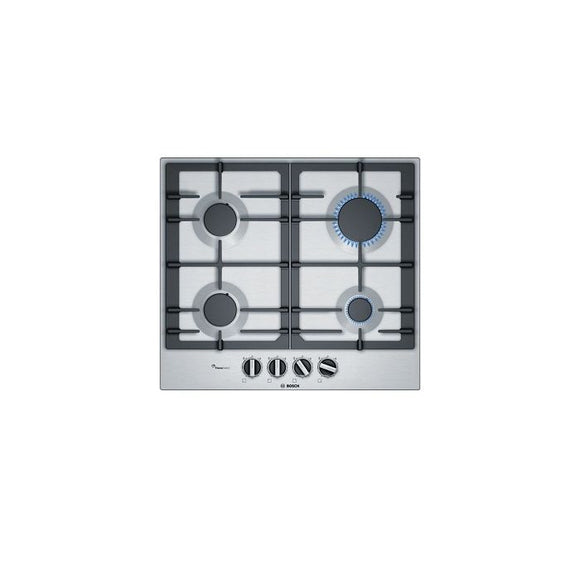 Bosch 60cm 4 Burner Gas Hob - Stainless Steel - Serie 6 - PCP6A5B90Z