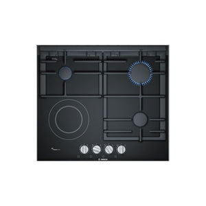 Bosch 60cm 3 Burner Gas Hob - Ceramic Glass - Serie 8 - PRY6A6B70