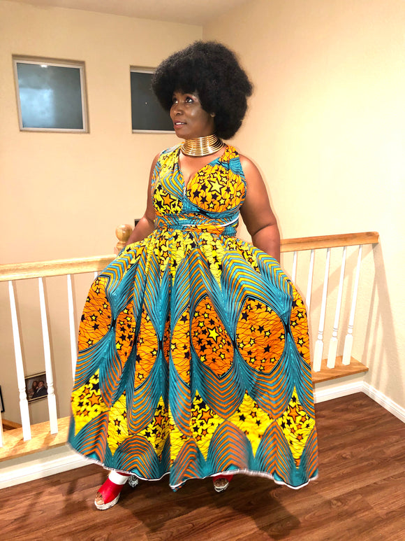Gbee tribe wraps maxi dress