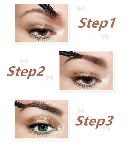 Foreverfly Microblading Waterproof Eyebrow Pen instructions