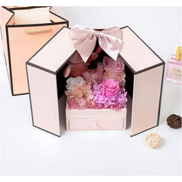 2020 Valentines Day gift teddy bear rose two door box anniversary gifts for her birthday christmas women