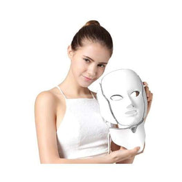 7 Colour Photon LED Face and Neck Mask color led light therapy - Acne - Anti-Aging - at home - beauty eprolo