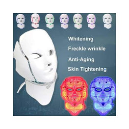 7 Colour Photon LED Face and Neck Mask eprolo color led light therapy - Acne - Anti-Aging - at home - beauty