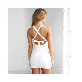 ADIRA - BACKLESS BANDAGE V - NECK MINI DRESS Foreverfly Luxe 2 Layers - Bandage Dress - clothing - Clothing_dresses - display-limited