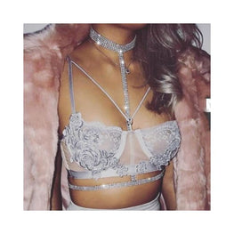 ANNISSA CRYSTAL BODY CHAIN Foreverfly Store body chain - bodychain - bra - Crop Tops