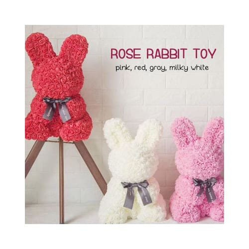 Artificial Rose Rabbit 2 900£0.501 birthday present ideas for best friend anniversary gifts friends her uk Arts & Entertainment > Party