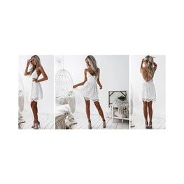 Backless Spaghetti Strap Lace Dress display-limited Dresses multi-buy-prompt Price_20 to 25 Apparel & Accessories > Clothing 1