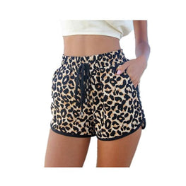 Casual Leopard Printed Shorts cashual Clothing Clothing_animal-print denim shorts display-limited Apparel & Accessories > 1