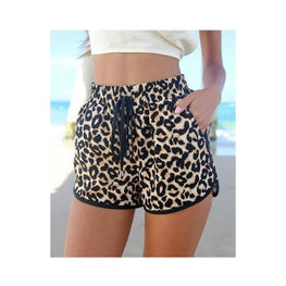 Casual Leopard Printed Shorts cashual Clothing Clothing_animal-print denim shorts display-limited Apparel & Accessories > 8
