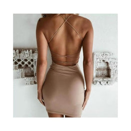 Crisscross Backless Bandage Dress backless dress Clothing Clothing_dresses display-limited 1