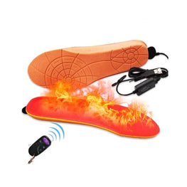 ELECTRIC HEATED INSOLES Foreverfly 12V Electric Heated Foot Warmer Heating Pad for Feet Boots Winter Heater Keep Warm Slippers Shoes Cushion