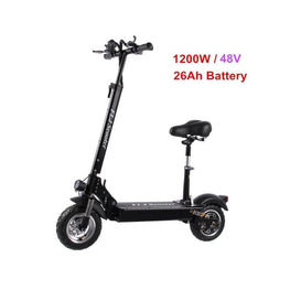 FLJ Adult Electric Scooter with seat 48V/1200W / 500W kick scooter foldable e big wheel electro bike electrico eprolo escooters