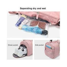 (Free Shipping) Travel Duffel Bag with Dry Wet Pocket & Shoes Foreverfly gym bags - Home Gym - home workout - How essentials