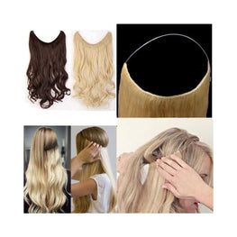 Halo Hair Extensions Foreverfly Accessories - best hair extensions uk - blonde - clip in - human