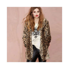 Leopard Print Faux Fur Coat Clothing Clothing_animal-print coat display-limited faux fur 1