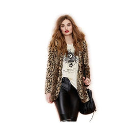 Leopard Print Faux Fur Coat Clothing Clothing_animal-print coat display-limited faux fur 4
