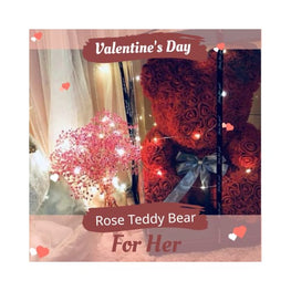 Luxury Rose Bear Foreverfly baked bear - pike and rose - ice cream - flower - roses