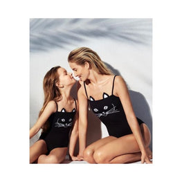 Matching Mother & Daughter Swimsuit cat print Clothing Clothing_swimwear display-limited matching 1