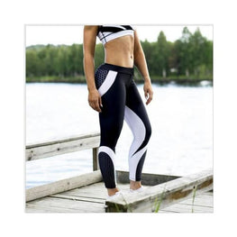 Mesh Pattern Print Leggings Athleisure Clothing Clothing_tights-athleisure display-limited fitness Tights & 1