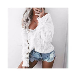 Off Shoulder Cable-Knit Sweater Clothing display-limited multi-buy-prompt Price_05 to 10 Price_under 50 Jumper 1