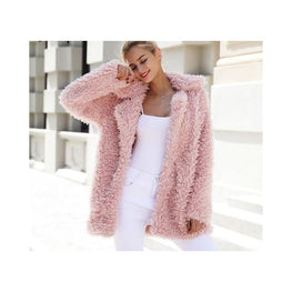 Pink Faux Fur Coat Foreverfly Store coat - display-limited - faux fur - multi-buy-prompt - pink