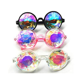 Round Retro Kaleidoscope Sunglasses crystal display-limited kaleidoscope multi-buy-prompt Price_10 to 15 1