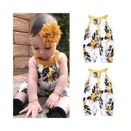 Sleeveless Floral Jumpsuit | jumpsuit ins childrens clothing display-limited jumpsuits Clothing 1